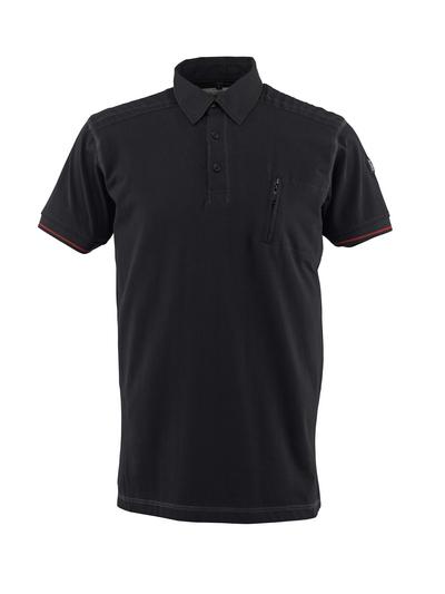 MASCOT® Kreta - svart - Pikéskjorte, moderne passform, brystlomme