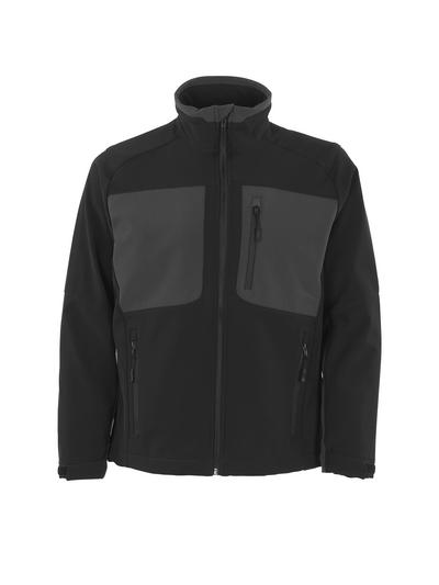 MASCOT® Lagos - svart/mørk antrasitt - Softshelljakke med fleece på innsiden, vannavvisende