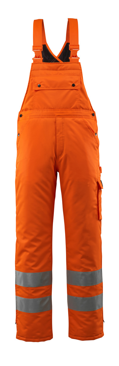 MASCOT® Lech - hi-vis oransje - Vinteroverall med quiltfôr, vanntett MASCOTEX®, klasse 2
