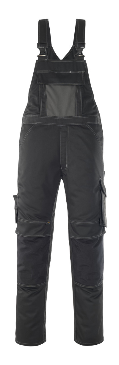 MASCOT® Leipzig - svart/mørk antrasitt - Overall med knelommer, god slitestyrke