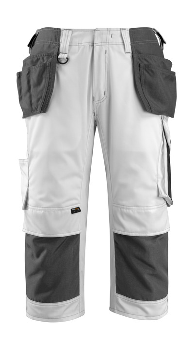 MASCOT® Lindau - hvit/mørk antrasitt - Piratbukser med CORDURA® kne- og hengelommer, god slitestyrke