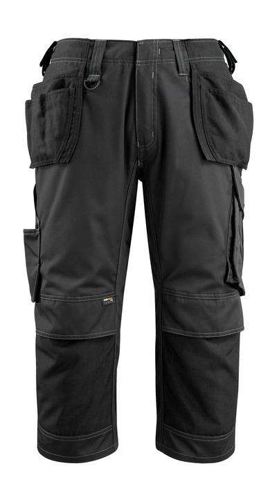 MASCOT® Lindau - svart - Piratbukser med CORDURA® kne- og hengelommer, god slitestyrke