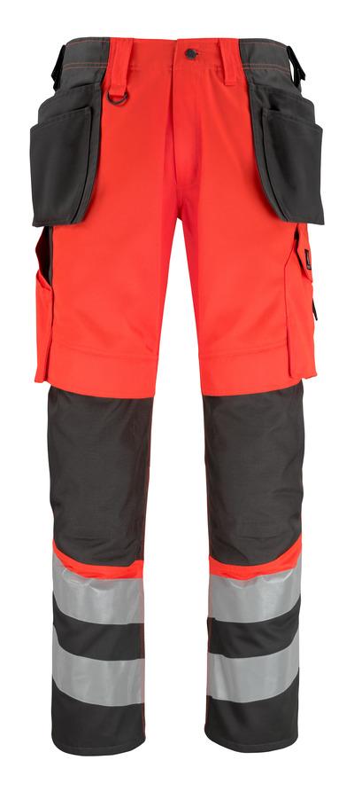 MASCOT® Lixa - hi-vis rød/mørk antrasitt* - Bukser med kne- og hengelommer