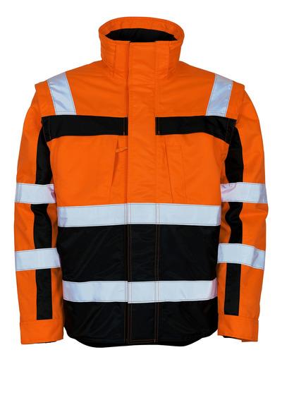 MASCOT® Loreto - hi-vis oransje/marine - Vinterjakke med uttakbar termojakke, vannavvisende, klasse 3