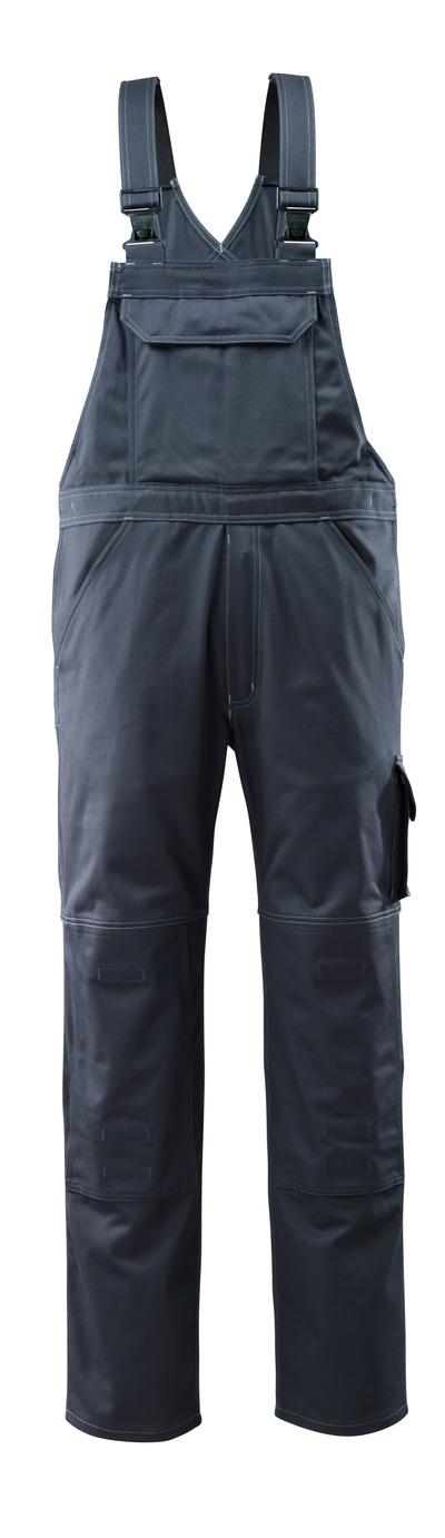 MASCOT® Lowell - mørk marine - Overall med knelommer, bomull