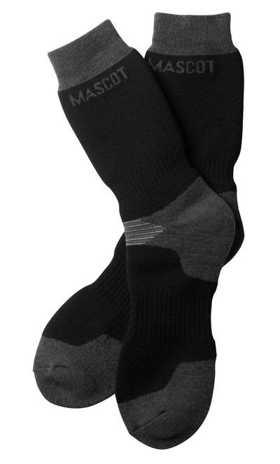 MASCOT® Lubango - svart/mørk antrasitt - Sokker, lang type, fukttransporterende
