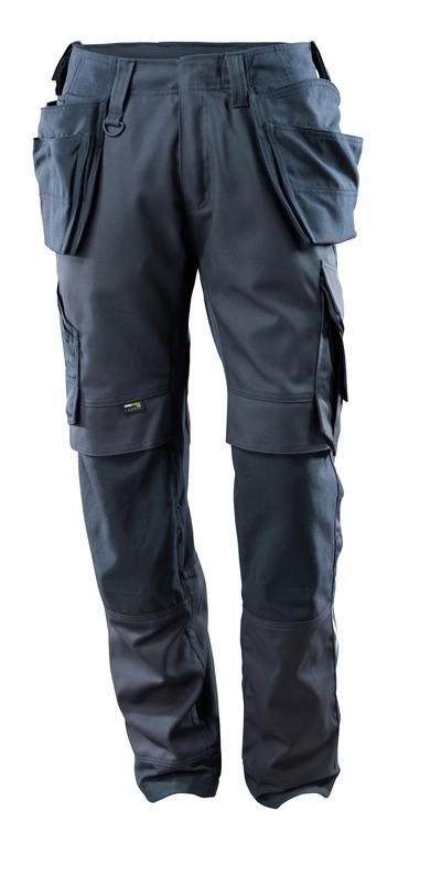 MASCOT® Madrid - mørk marine - Bukser med CORDURA® kne- og hengelommer, stretchpaneler, god slitestyrke