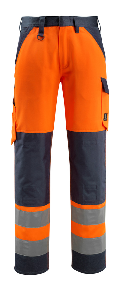 MASCOT® Maitland - hi-vis oransje/mørk marine - Bukser med knelommer, klasse 2