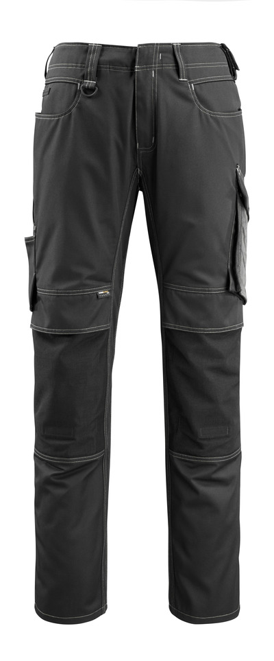 MASCOT® Mannheim - svart/mørk antrasitt - Bukser med CORDURA®-knelommer, lav vekt