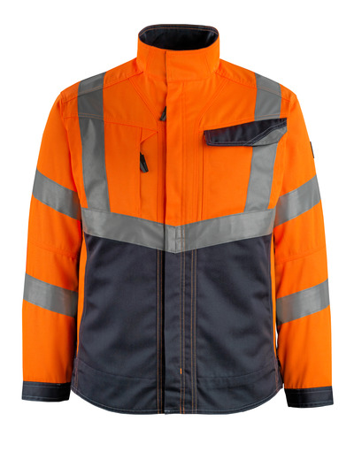 MASCOT® Oxford - hi-vis oransje/mørk marine - Jakke, god slitestyrke, klasse 2