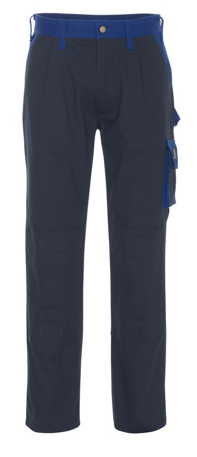 MASCOT® Palermo - marine/kobolt - Bukser med knelommer, bomull