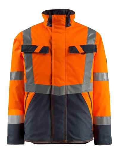 MASCOT® Penrith - hi-vis oransje/mørk marine - Vinterjakke med quiltfôr, vannavvisende, klasse 3