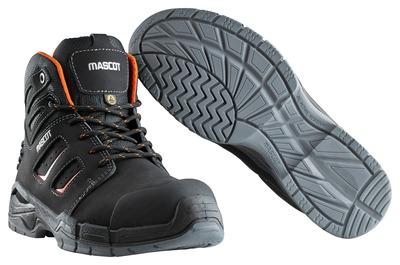MASCOT® Rimo - svart/mørk oransje - Vernestøvler S3 med skolisser