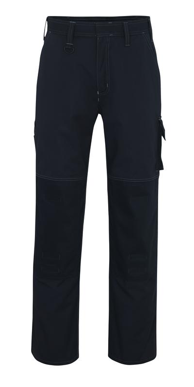 MASCOT® Riverside - mørk marine - Bukser med knelommer, god slitestyrke