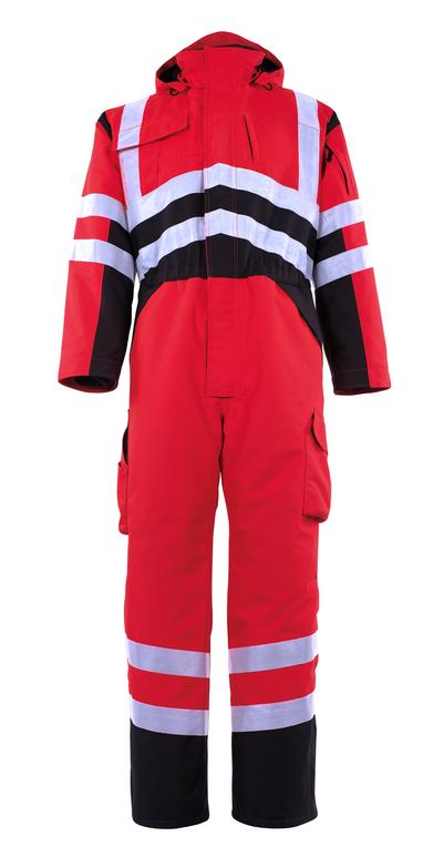 MASCOT® Safara - hi-vis rød/mørk antrasitt - Vinterkjeledress med pelsfôr, vanntett MASCOTEX®, klasse 3