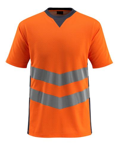 MASCOT® Sandwell - hi-vis oransje/mørk marine - T-skjorte, moderne passform, klasse 2