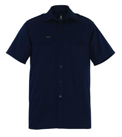 MASCOT® Savannah - marine - Skjorte, kortermet, klassisk passform