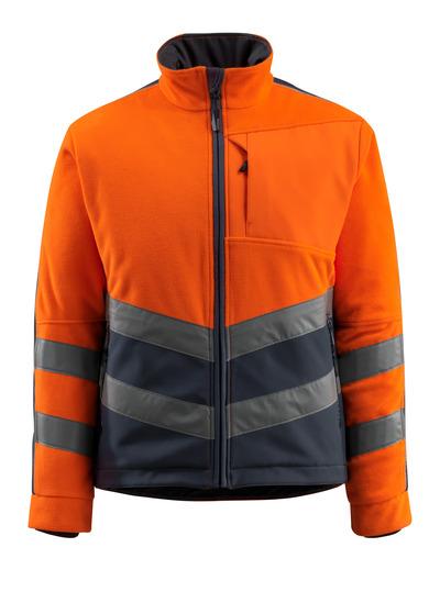 MASCOT® Sheffield - hi-vis oransje/mørk marine - Fleecejakke med vattert og vindtett fôr, vannavvisende, klasse 2