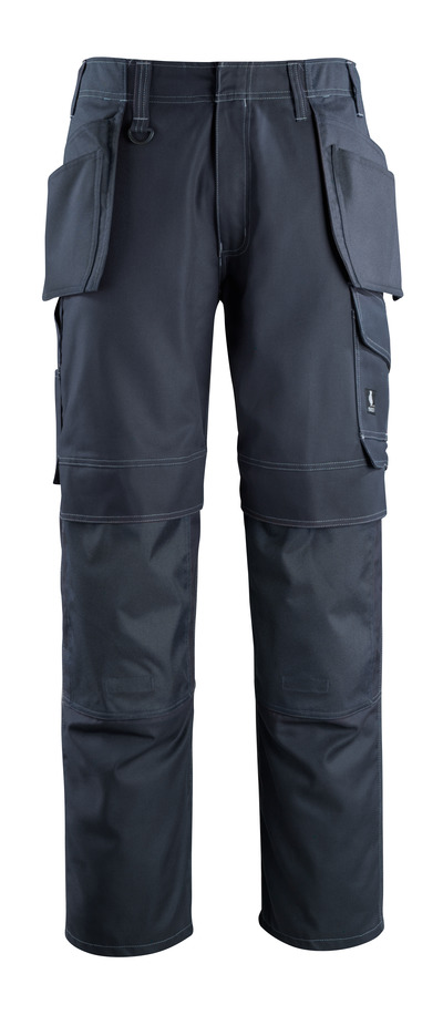 MASCOT® Springfield - mørk marine - Bukser med kne- og hengelommer, lav vekt