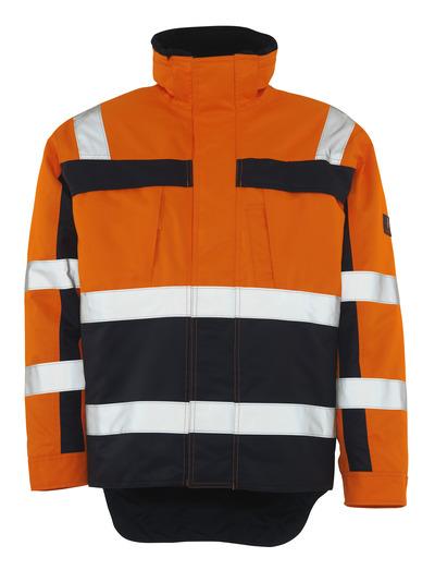MASCOT® Teresina - hi-vis oransje/marine - Vinterjakke med pelsfôr, vanntett, klasse 3