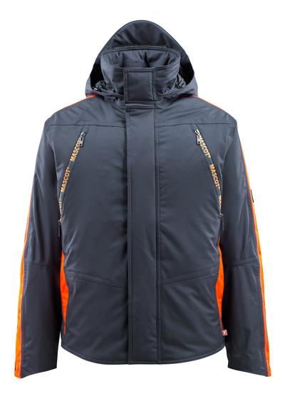 MASCOT® Tolosa - mørk marine/hi-vis oransje - Vinterjakke med hi-vis-kontrast, vanntett, høy isoleringsevne