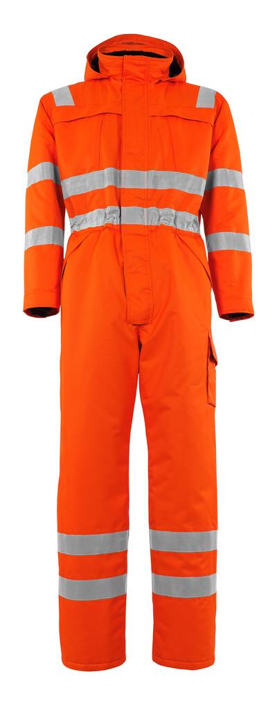 MASCOT® Tombos - hi-vis oransje - Vinterkjeledress med pelsfôr, vanntett MASCOTEX®, klasse 3