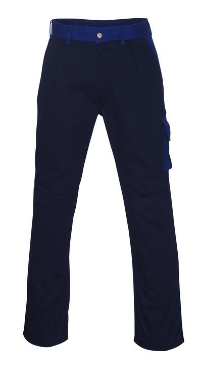 MASCOT® Torino - marine/kobolt - Bukser med knelommer, god slitestyrke