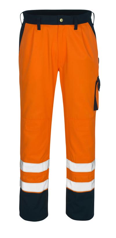 MASCOT® Torino - hi-vis oransje/marine* - Bukser med knelommer, klasse 1/2