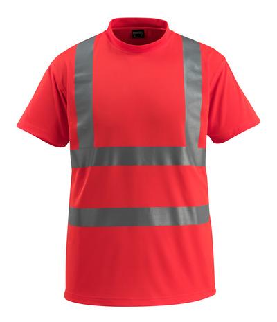 MASCOT® Townsville - hi-vis rød - T-skjorte, klassisk passform, klasse 2