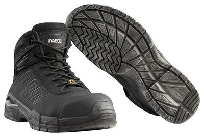 MASCOT® Trivor - svart - Vernestøvler S3 med skolisser