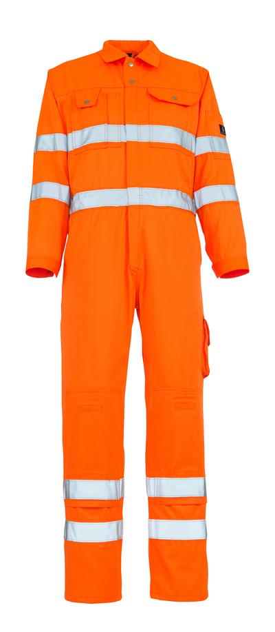 MASCOT® Utah - hi-vis oransje - Kjeledress med knelommer, klasse 3