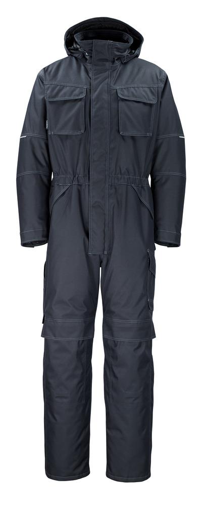 MASCOT® Ventura - mørk marine - Vinterkjeledress med pelsfôr, vanntett