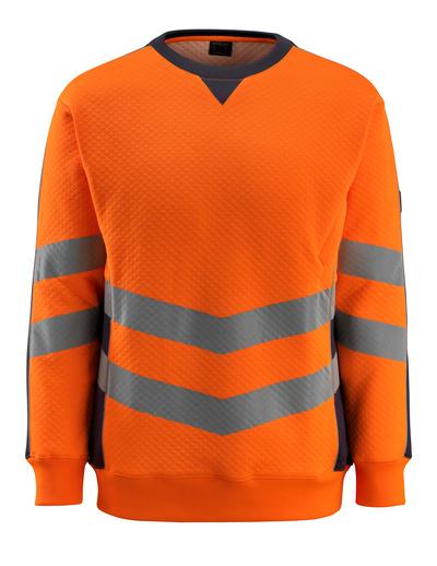MASCOT® Wigton - hi-vis oransje/mørk marine - Collegegenser, moderne passform, klasse 3