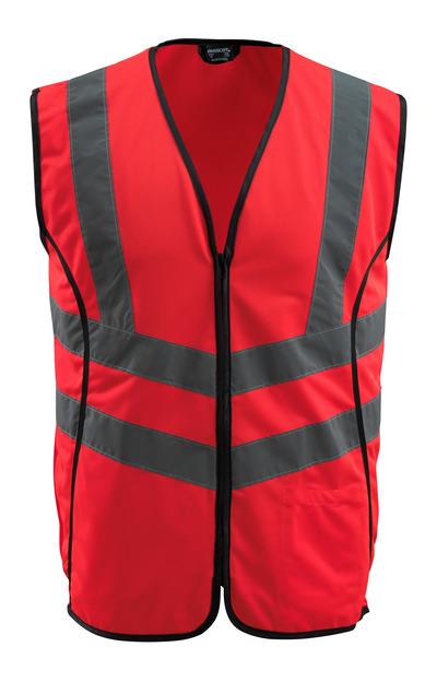 MASCOT® Wingate - hi-vis rød - Trafikkvest med glidelås, klasse 2