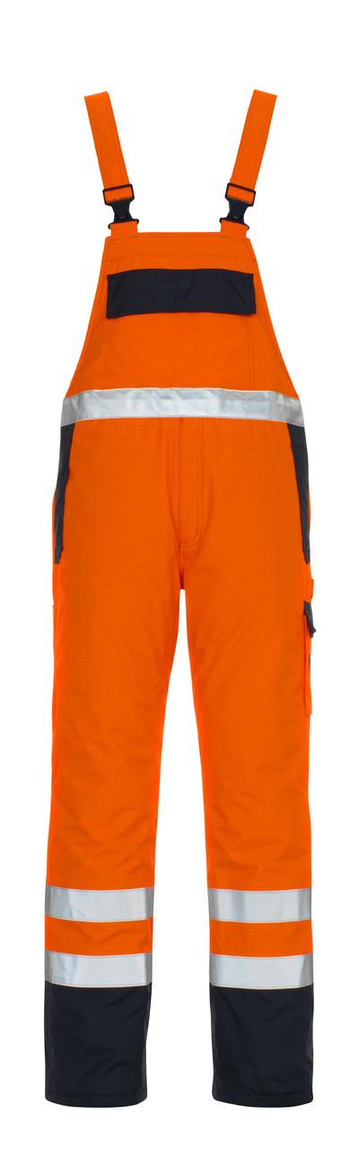 MASCOT® Zug - hi-vis oransje/marine* - Overall med fôr, multisafe, vanntett, klasse 2/2